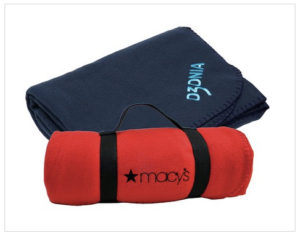custom branded fleece blankets