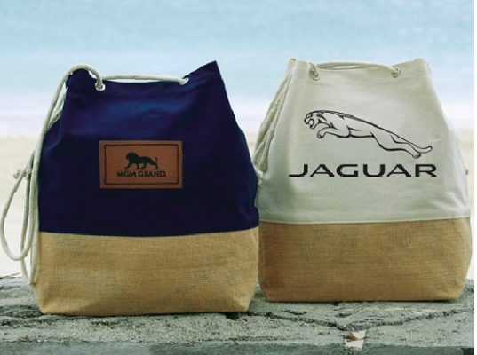 custom printed canvas jute totes