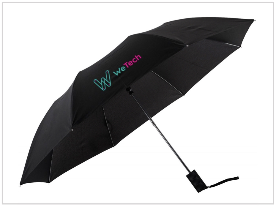 promotional umbrella made from recycled water bottles