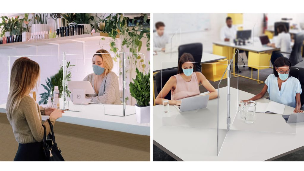 acrylic desk shield dividers